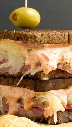 The Ultimate Spicy Reuben Sandwich...