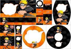 Naruto: Free Printable Candy Bar Labels.