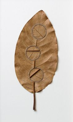 Dwelling Susanna Bauer specialises in delicate organic sculptures crafted from leaves, stones, wood and cotton yarn. Internal Workings Close Small Bauer stitches the materials precisely and accurately Art Au Crochet, Grafiti, Diy Inspiration, Crochet Leaves, Colossal Art, Nature Crafts, Art Plastique, Textile Art, Sculpture Art