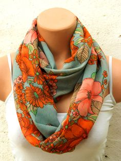 orange lime greenfashion scarvesInfinity by WomensScarvesTrend, $19.00