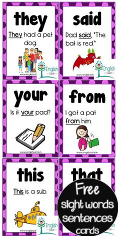 Sight Words Printables, Sight Word Worksheets, Reading Worksheets, Preschool Worksheets, Free Printables, Preschool Sight Words, Sight Word Activities, Phonics Activities, Classroom Activities