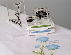 Stampin Up Field Flowers ~ Tissue Paper Technique photo