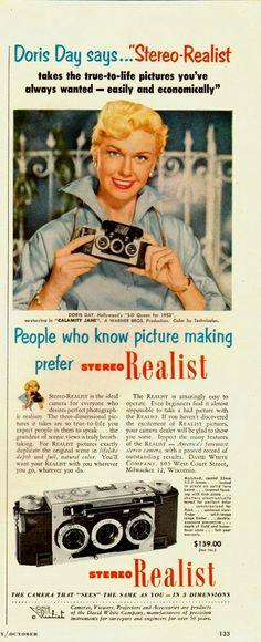 Doris Day - David White Company's Stereo Realist camera, 1953.