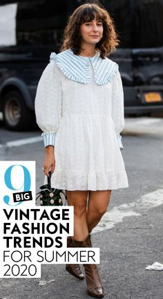 Ahead, I've rounded up nine vintage-meets-current fashion trends that you might want to check out, too.  Everything from playful prints, to mom shorts, to voluminous details is making a comeback this Summer.  #style #ootd #fashion #summer2020trends #fashiontrends Fashion Terms, Current Fashion Trends, Spring Fashion Trends, Summer Fashion Trends, Spring Summer Fashion, Winter Fashion, Yacht Fashion, 70s Fashion, Ootd Fashion