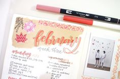 """163 Likes, 8 Comments - tomomi 🍥🎏💕🎈 (@tomiletters) on Instagram: """"thrOwback to last weeks spread that's pink/red for Valentine's Day! This one's inspired by…"""""""