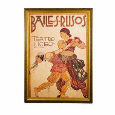 Art and Creative Marketing The Dance Bailes-Rusos Framed Art - ACM01824