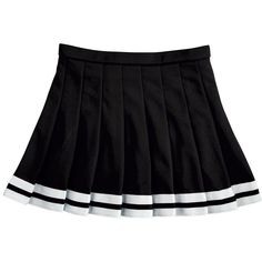 ZOE Knife Pleat Cheer Uniform Skirt (36 BRL) ❤ liked on Polyvore featuring skirts, bottoms, black, clothing - skirts and knife-pleated skirts