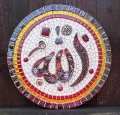 DesertRose,,,Allah's Name in Ceramic and Glass Mosaic Plaque