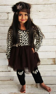 The Chelsea Cheetah Heart Boutique Set #new