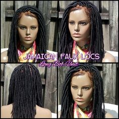 "This is a customers custom ordered 12-14"" jamaican full lace Faux locs. Email me to order adena360@yahoo.com"