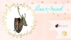 video tutorial deer head Deer, Stag Head, Tutorials, Cards, Reindeer