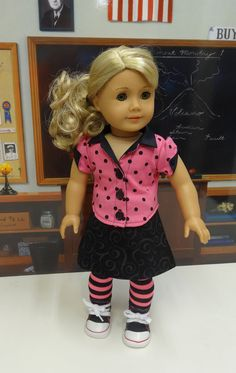 Hot Stuff - Skirt Set with Jacket for American Girl