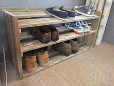 Handmade Reclaimed Pallet Wood Shoe Rack от ChewtonWoodDesign