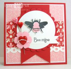 Bee Mine...Papertrey Ink stamp set Honey Bee...By:The Queen's Scene