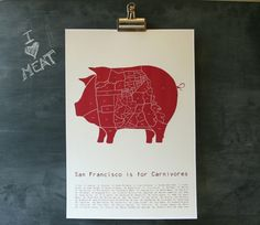 Butcher Map / a different kind of map from San Francisco.