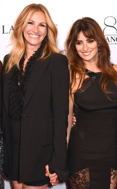 Julia Roberts & Penélope Cruz from The Big Picture: Today's Hot Pics The beautiful faces of Lancôme unite for the brand's 80th anniversary party in Paris.