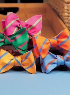 Mogador Bar Stripe Bows