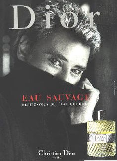 Eau Sauvage by Christian Dior with Johnny Halliday (2000).