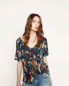 FLORAL PRINT T - SHIRT-View all-WOMAN-NEW IN | ZARA France