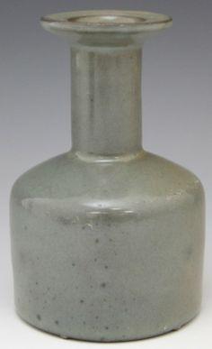 "CHINESE GRAY CELADON STONEWARE BRUSH WASHER SONG Chinese gray celadon stoneware brush washer, Song Dynasty. Size: 5"" tall Antique Bottles, Chinese Ceramics, Pottery Ideas, Asian Art, Washer, Stoneware, Glaze, Bowls, Baskets"