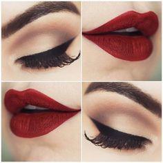 Klasyczny makijaż;)
