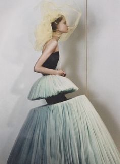 Magdalena Frackowiak in Victor & Rolf — Photographed by Josh Olins for Dazed & Confused