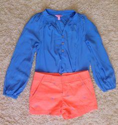 ootd idea  Top- Lilly Pulitzer (Elsa)  Shorts- Jcrew