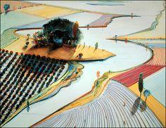 """Waterland"" by Wayne Thiebaud."