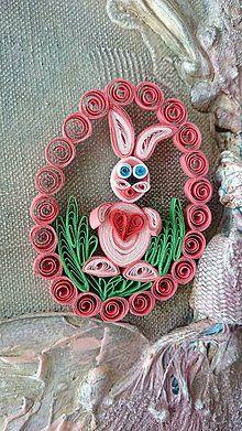 Dekorácie - Veľkonočná dekorácia - zajko - 5165381_