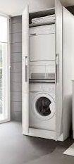 Mobile a colonna per lavatrice e asciugatrice home for Lavatrice e asciugatrice in colonna