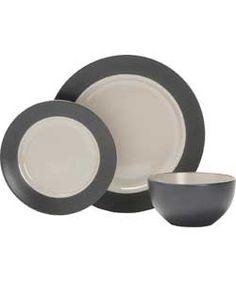 living 12 piece stoneware max band dinner set grey argos pc living room set
