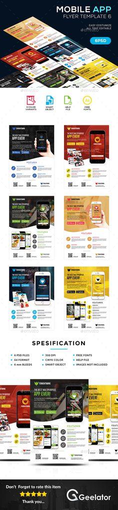 Mobile App Promotional Flyer Promotional flyers, Mobile app and App - promotional flyer template