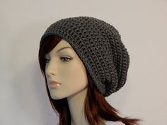 Crochet PATTERN PDF, The Hipster Slouch Beanie, Unisex Slouchy Hat, Winter Hat, Ladies Crochet Hat Pattern, Mens Crochet, MarlowsGiftCottage by MarlowsGiftCottage on Etsy