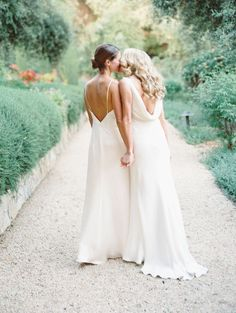 In honor of Pride Month, we're spotlighting some stunning same-sex wedding photos. Here, we share some of the most touching photos of gay and lesbian couples at LGBTQ+ weddings Lesbian Wedding Photos, Lesbian Wedding Photography, Cute Lesbian Couples, Lgbt Wedding, Wedding Poses, Bridal Pics, Life Photography, Wedding Ideas, All White Wedding