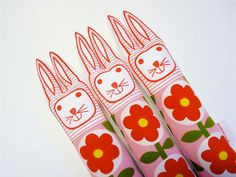 retro Scandanavian easter bunny from jane foster designs