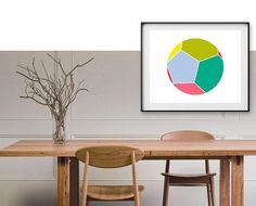 Geometric Digital Print, Printable Art, Best Selling Print, Minimalist Art, Wall Decor, Nursery Room, Instant Download, Fantastik, Modern