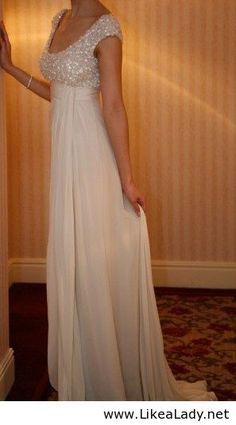 Just a beautiful long white dress