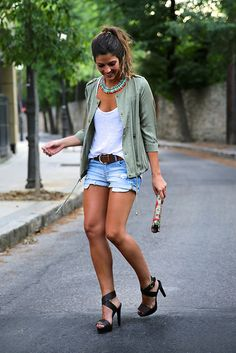 Inspiration looks summer shorts outfits, spring work outfits, short outfits, Summer Shorts Outfits, Spring Work Outfits, Casual Shorts, Fall Outfits, Spring Clothes, Outfit Summer, Casual Heels, Daytime Date Outfit, Summer Clothes For Women
