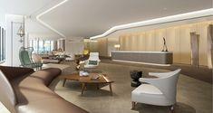 Modern, yet Warm Reception Interior