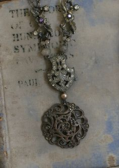 Evensong - assemblage necklace