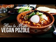 Pozole one of Mexico's most iconic dish gets a vegan makeover! I'm super excited to be sharing one of my favourite Mexican dishes: pozole! This is ultimate comfort food and it's … Milk Recipes, Mexican Food Recipes, Vegan Recipes, Mexican Desserts, Freezer Recipes, Vegan Meals, Dinner Recipes, Mexican Cooking, Eggplant Curry