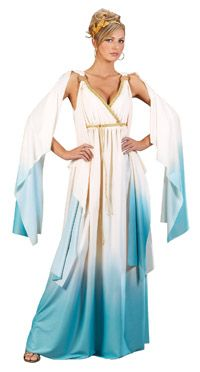 Our Greek Goddess Adult Costume is the perfect costume for a Halloween costume party or any Halloween event. The Greek Goddess Costume includes gown and headband. This Greek Goddess Adult Costume is available in women's small and medium size. Roman Goddess Costume, Greek God Costume, Goddess Halloween Costume, Costumes Sexy Halloween, White Costumes, Adult Costumes, Adult Halloween, Party Costumes, Roman Costumes