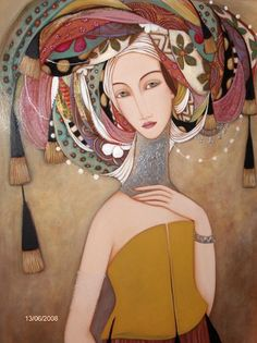 Enigmatic look in the abstract expression, portraits by Faiza Maghni - ego-alterego.com