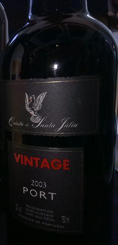 Porto Vintage 2003 da Quinta de Santa Julia, outro néctar, daqueles que não temos oportunidade de beber todo ano. Fantástico! #portovintage #porto