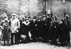 Brandenburg, Germany, 13/04/1942, Jews rounded up for their deportation. From left to right: Klara and Anton Milewsky, Martha Seelig, Mr. Baeckermus, Mrs. Fischer, Mrs. Kohn, Hans Lewi, Mrs. Lewi, Lotte Rosenau, Willi Lewi, Mr. and Mrs. Samt.