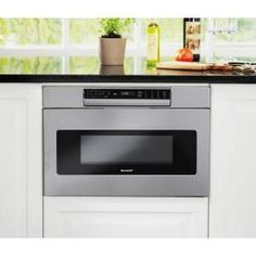 Microwave Drawer With Concealed Controls Built In Stainless Steel Sensor Cooking