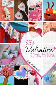Keep little ones busy with over 25 cute valentine crafts for kids! You're sure to find a valentine kids craft that your family will love to create together. Valentine Crafts For Kids, Spring Crafts For Kids, Crafts For Kids To Make, Valentines Day Party, Be My Valentine, Kids Crafts, Homemade Valentines, Valentine Ideas, Jar Crafts