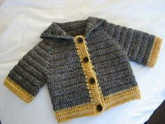 Every day is a new sweater day, crochet baby sweater/jumper