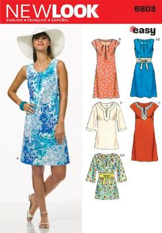 New Look Sewing Pattern 6803 Misses Dresses, Size A (10-12-14-16-18-20-22) Simplicity Creative Group Inc - Patterns http://www.amazon.com/dp/B004RSTZRA/ref=cm_sw_r_pi_dp_o4g7vb056FC4Q