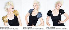 """PUFFY PUFF POP - clevere Add-Ons von MONKEY ON MY SHOULDER!   """"Monkey on my shoulder ist ist ein Prét-à-porter / Couture Label aus Wien. Das Hauptaugenmerk richtet sich auf die Monkeys extravagante Bolerojäckchen in den verschiedensten Farben Stoffen und Styles. Zur Abendrobe zum kleinen Schwarzen oder zum T-Shirt getragen macht dieses Accessoire einfach mehr aus jedem Outfit. Dazu gibt es eine kleine feine Kleider Kollektion. Wir machen auch Extraanfertigungen und beraten unsere lieben…"""